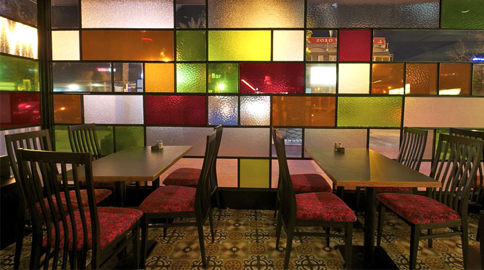 Redecorating the rooms in your home can bring some chaos, but it also brings a lot of excitement as you watch an entirely new look come to life in rooms that had become mundane and dated. Restaurant Decor with Colored Glass Windows - InteriorZine