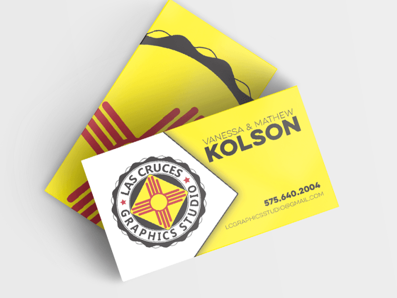 business card Logo designed by keena wolff graphic designer las cruces