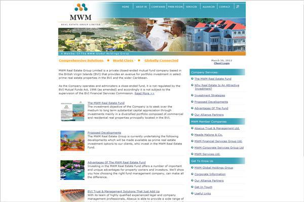 MWM Financial Services, British Virgin Islands created by Interlinc Communications