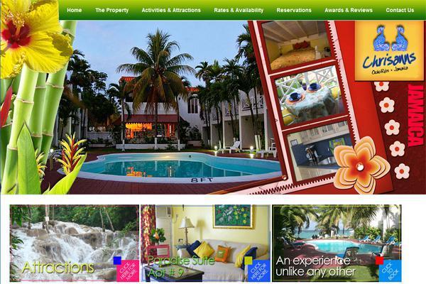 Web design for Chrisanns Beach Resort, Ocho Rios Jamaica