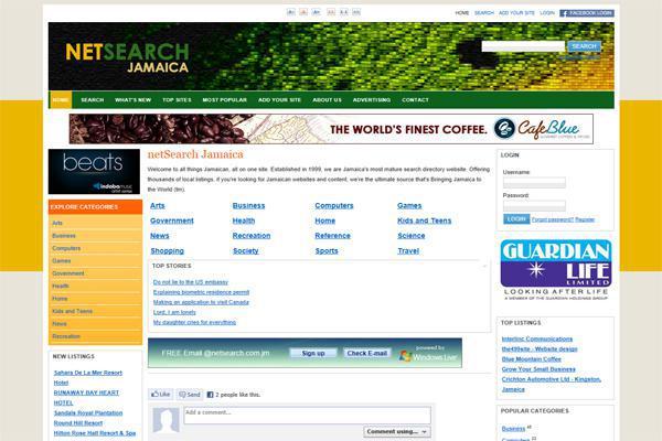 netSEARCH Jamaica Website