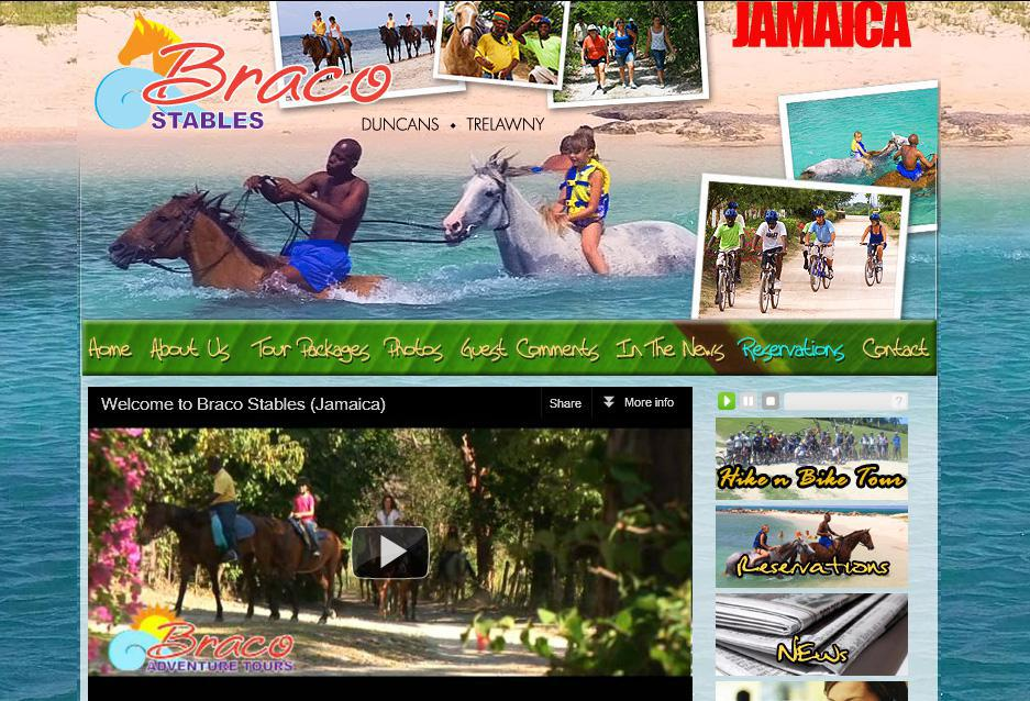 Website design and development for Braco Stables