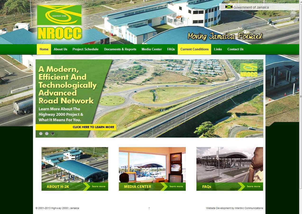 Screenshot of the Highway 2000 / NROCC website