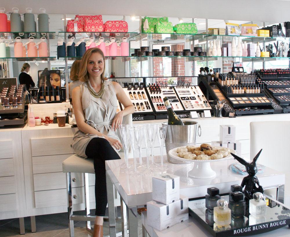 Makeup artist Jo Levy at INTERLOCKS