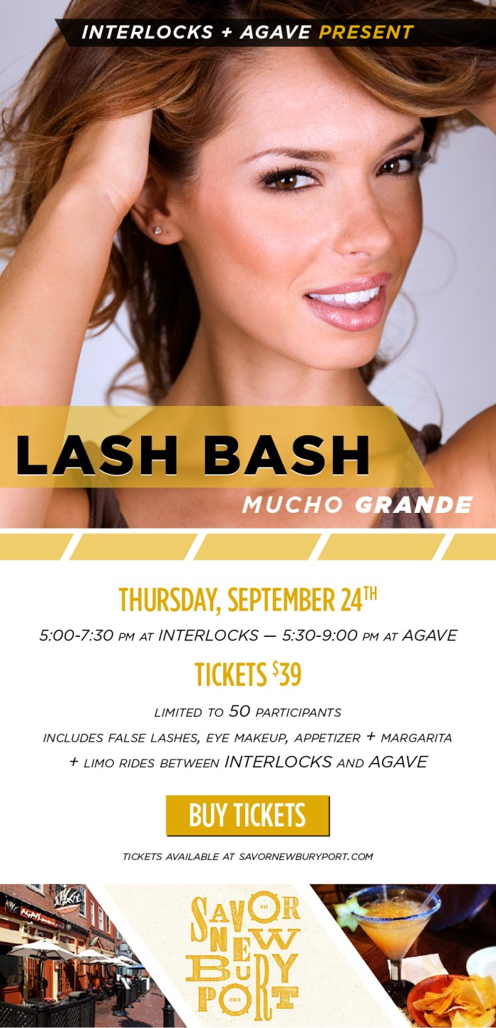 lash bash event poster