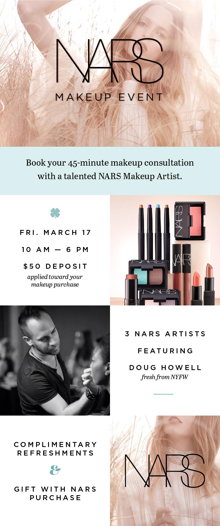 3-17-17 NARS Makeup Event