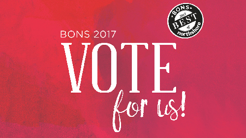 BONS 2017 Vote for INTERLOCKS Salon + Spa