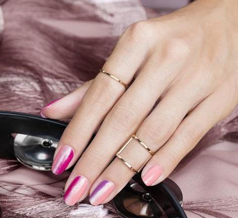Finger Nail Polish Application