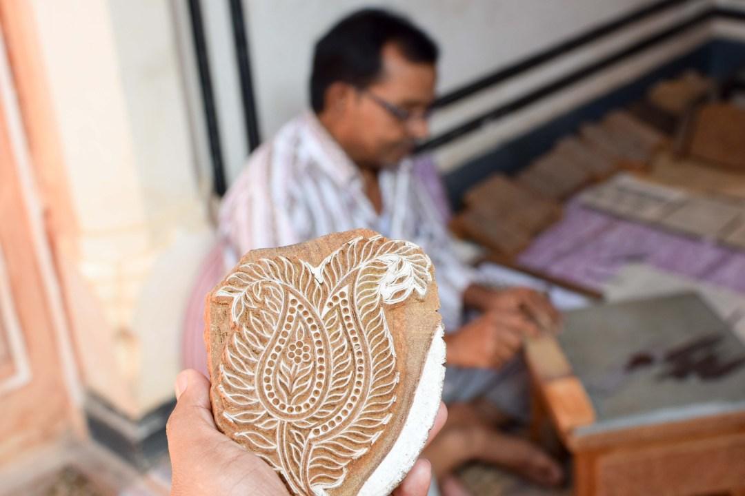 Hand Block Printing in Sanganer
