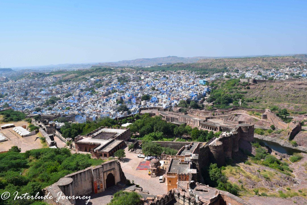 Blue city of Jodhpur seen from Mehrangarh Fort
