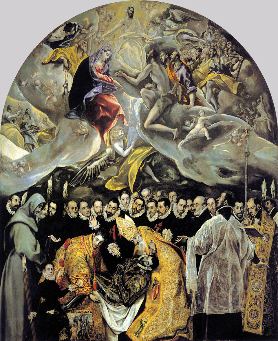 Toledo-Santo Tome-El Greco-The Burial of the Count of ...