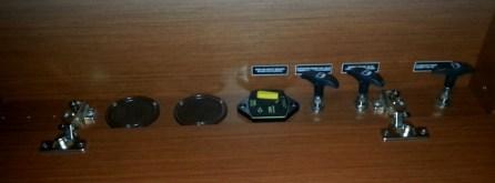 Safety instruments panel inside the salon on the 2014 Prestige 450S.