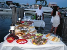Table spread on the docks during Intermarine Grand Escapade.