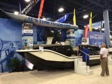 Bayliner Element XR7 booth at the 2015 Miami Boat Show