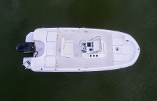 Bayliner F18 fishing boat overhead view