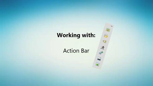 Snel acties uitvoeren met de Action Bar in Visual Paradigm