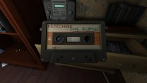 Surprisingly, there are no journal entries to be prompted the first time we enter Sam's room, but there is plenty of environmental detail. First up, the second cassette tape, Bratmobile's Cool Schmool.