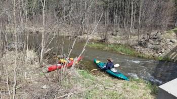 Ready to start paddling.
