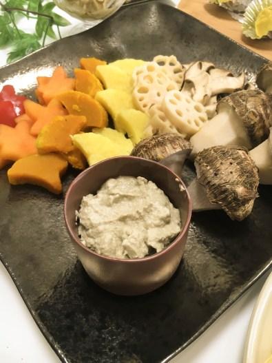 野菜ソムリエ ポットリックパーティー料理 舞茸のバーニャカウダ