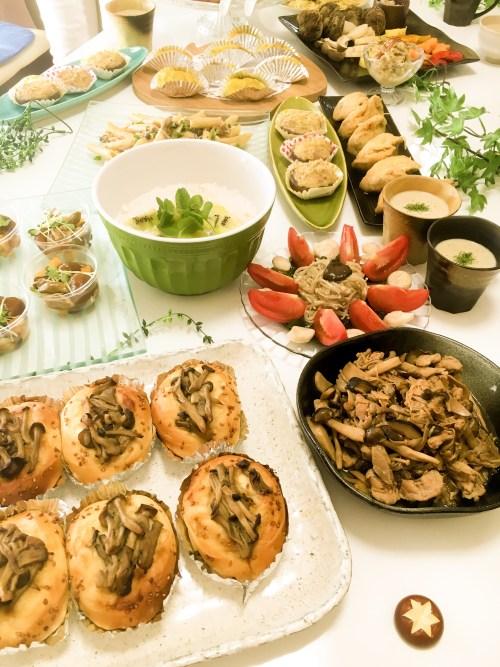 野菜ソムリエ ポットリックパーティー料理 全体写真