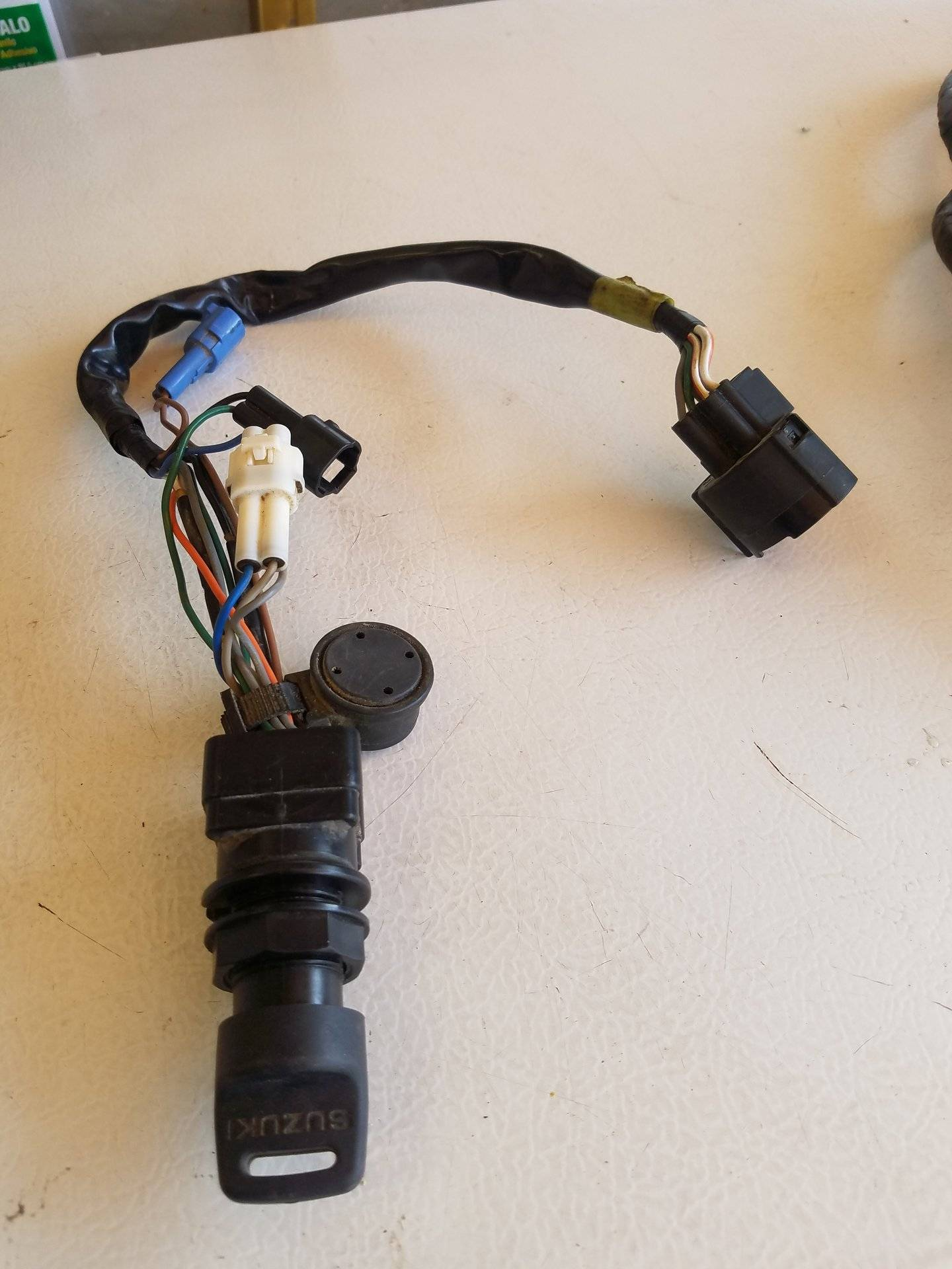 Suzuki Outboard Ignition Switch W Key Wiring Harness 50