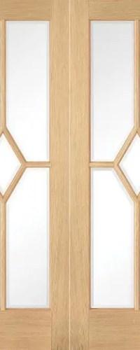 Oak Reims Glazed Pair