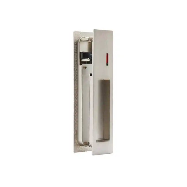 Ironmongery Gemini Satin Chrome Pocket Door Privacy Sliding Lock