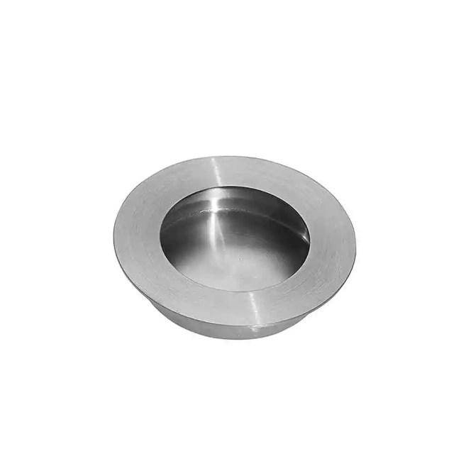 Ironmongery Pisces Satin Chrome Pocket Door Finger Pull