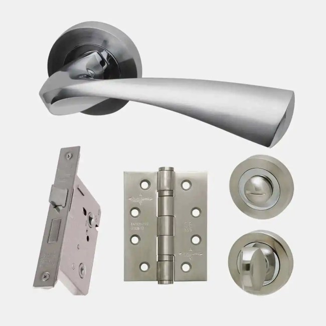 Ironmongery Pluto Privacy Handle Hardware Pack
