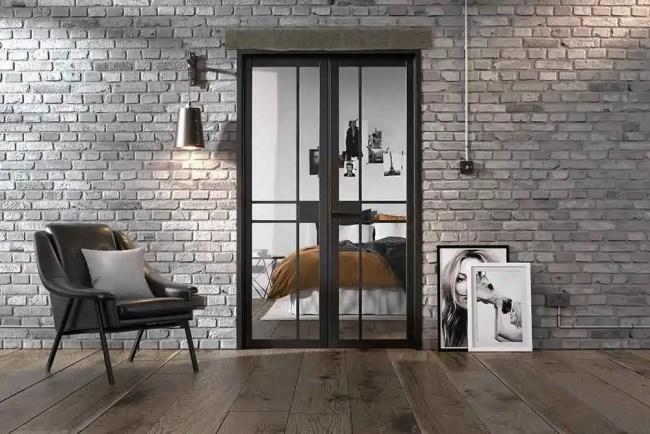 Room Divider Black Greenwich W4 LifeStyle