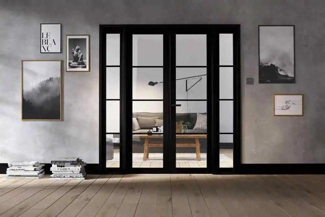 Room Divider Black Soho W6 LifeStyle