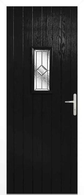 Speedwell Black Glazed Door Set