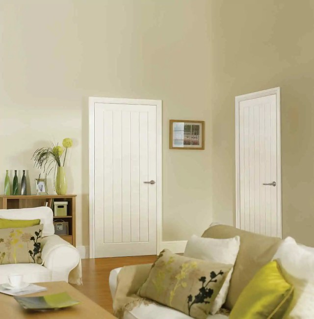 White Moulded Textured Vertical 5P LifeStyle