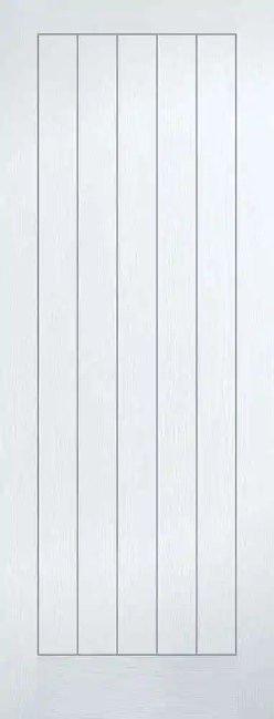White Moulded Textured Vertical 5P
