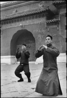 Wang Maozhai's Taiji class at Tai Miao 1 - Henri Cartier - Bresson