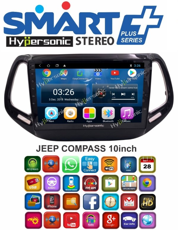 Hypersonic Jeep Compass Android Stereo