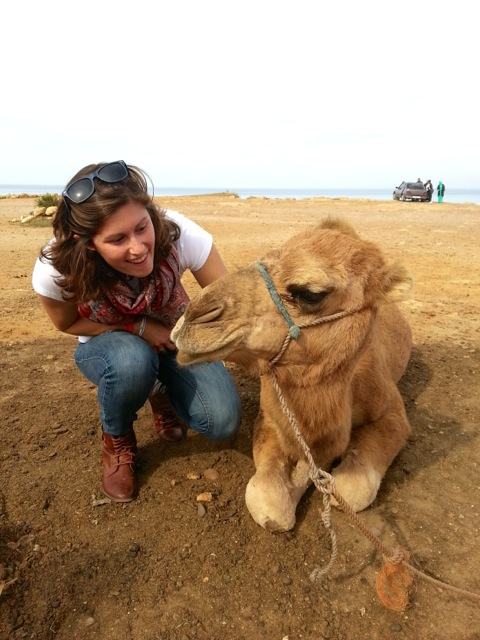 Robin Brazier on an excursion to the Sahara Desert in Morocco during her semester abroad at Universidad Deusto in Bilbao, Spain.