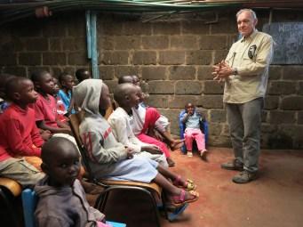 Speaking to the children
