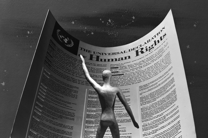 "Still frame from film ""Universal Declaration of Human Rights."" (Courtesy of United Nations Photo)"
