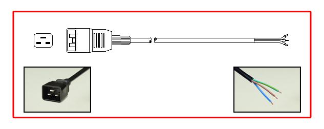 IEC 60320 C19, C20 PDU POWER STRIP, 8 OUTLETS, 15A-240V