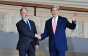 Secretary of State John Kerry (right) met with Brazil's Minister of External Relations, Antonio Patriota (left) in Brasília on Tuesday, August 13th, photo by Antonio Cruz/ABr.