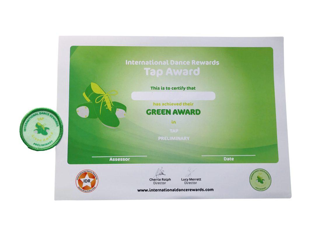 Tap Prelim green
