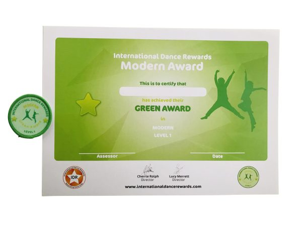 International Dance Rewards, dance rewards, dance school award, dance school rewards, dance school, dance school award, dance accreditation, dance accreditations, dance reward system, dance badge, dance certificate, dance badge and certificate, children's dance school, modern dance award green