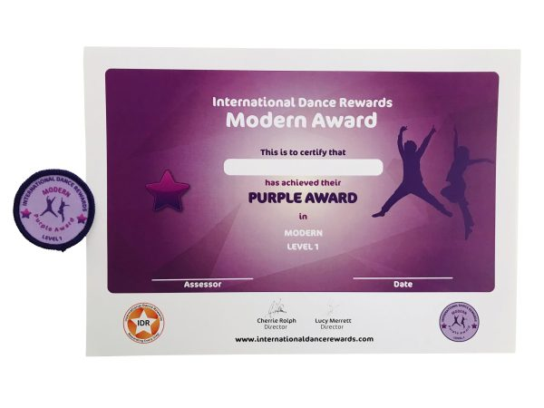 International Dance Rewards, dance rewards, dance school award, dance school rewards, dance school, dance school award, dance accreditation, dance accreditations, dance reward system, dance badge, dance certificate, dance badge and certificate, children's dance school, modern dance award purple