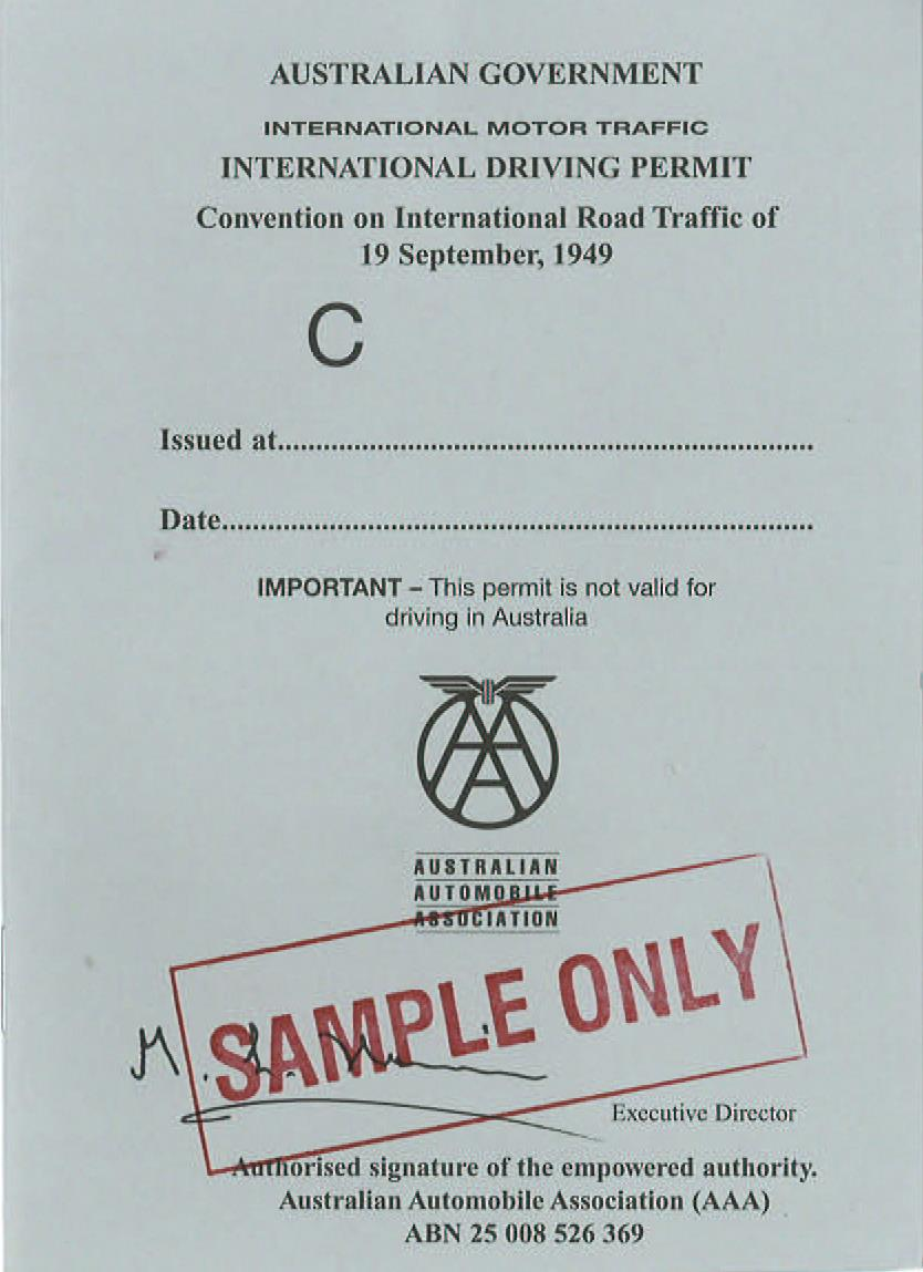 Australia | International Driving Permit