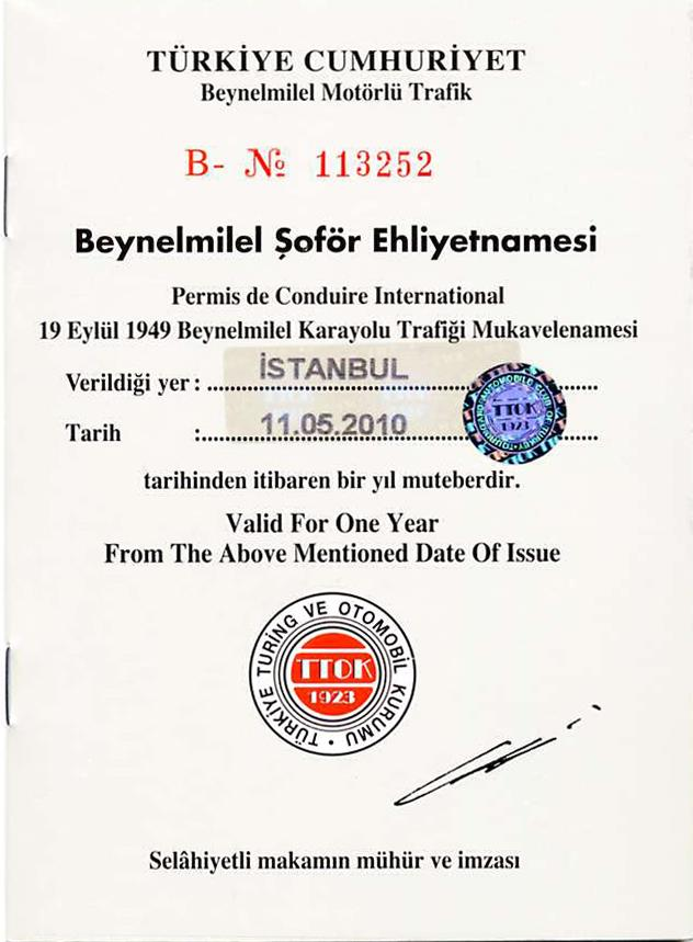 Turkey | International Driving Permit