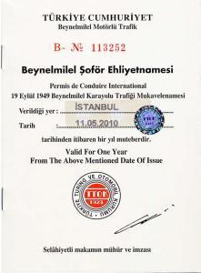 turkey-international driving permit