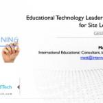Educational Leadership Training for Site Level Leaders