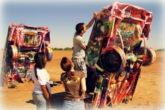 Cadillac Ranch, a public art installation and sculpture in Amarillo, Texas