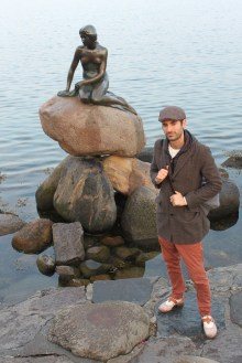 The famous Statue of the Little Mermaid in Copenhagen, Denmark.